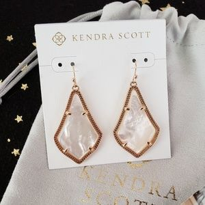 Kendra Scott Alex Rose Gold Drop Earrings In Ivory